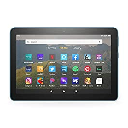 "8"" HD display, 2X the storage (32 or 64 GB of internal storage and up to 1 TB with microSD card) + 2 GB RAM. 10th generation (2020 release). All-day battery life - Up to 12 hours of reading, browsing the web, watching videos, and listening to music. ..."