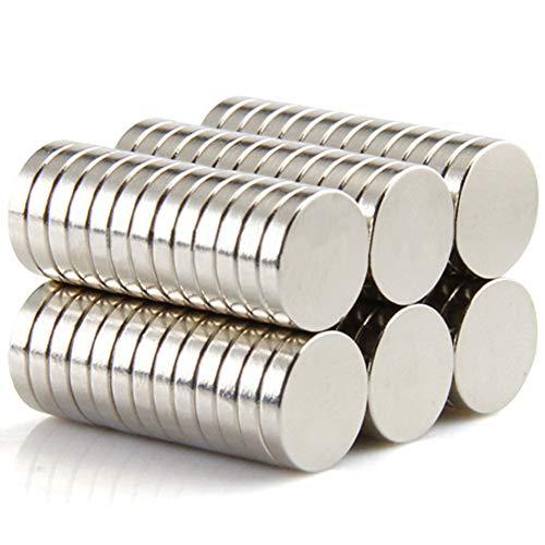 DIYMAG Refrigerator Magnets Premium Brushed Nickel Fridge Magnets