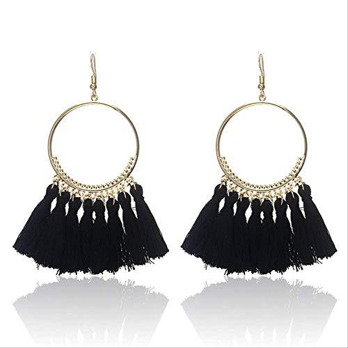 Womens oorbel sets hoepels etnische bohemen kwastje met franje oorbellen voor vrouwen gouden cirkel hangers oorbellen hangers sieradene0101c