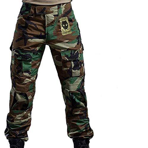 ATAIRSOFT Männer Kampfhose Armee Militärische Taktische Airsoft Paintball Schießen BDU Hose mit Knieschützern WL M