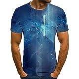 Camiseta Hombre Moderna Fresca Tecnología 3D Estampado Hombre Shirt Verano Básico Cuello Redondo Ajuste Regular Hombre Manga Corta Diario Casual All-Match Hombre Casuales Camisa TX8118 4XL