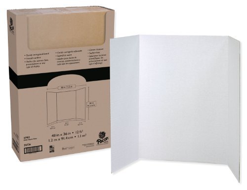 Pacon Presentation Board, White, Single Wall, 48' x 36', 24 Boards