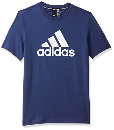 adidas Jungen YB MH BOS T T-Shirt, tech Indigo/White, 910Y
