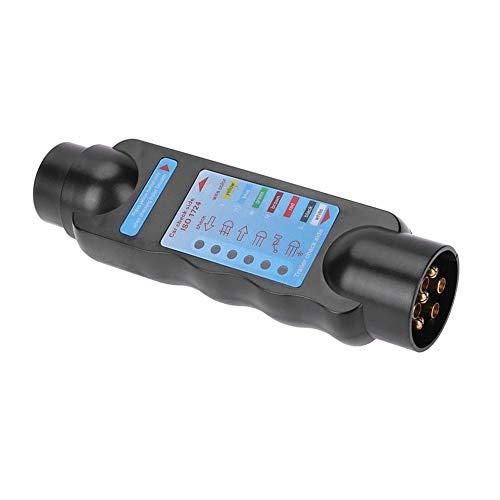 #N/V 12V 7-Pin Trailer Socket Truck Trailer Plug Tester Coche Cableado Circuito de Luz Herramienta de Prueba Eléctrica Herramientas de Diagnóstico