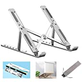 【Multi-Angle Adjustable Design】laptop stand provides 6-speed adjustable height(5.5-15.5cm), adjust to comfortable operating angle based on your actual need; Ergonomic design makes for health working, relieving neck, shoulder, and spinal pain. To purc...