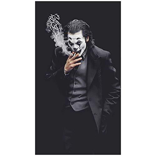 Película Comics Joker Posters Joaquin Phoenix retrato lienzo pintura Cuadros cuadro de arte de pared para sala de estar decoración del hogar-24x40 pulgadas sin marco