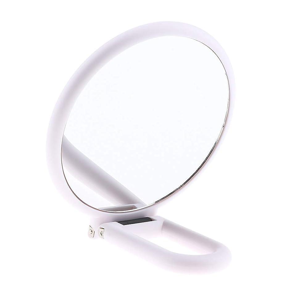 P Prettyia ダブルサイド化粧鏡 拡大鏡 メイクアップミラー 旅行小部 白い 折りたたみ式 5仕様選べ - 10倍