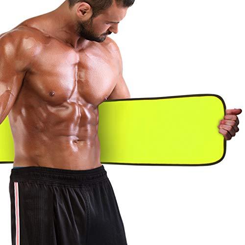 Magicfun Fajas Reductoras, Cintura Abdominal Faja para Deporte Fitness, Cinturón Lumbar Reductor Adjustable para Mujer y Hombre, Acelera Sudoración y Sauna, Negro