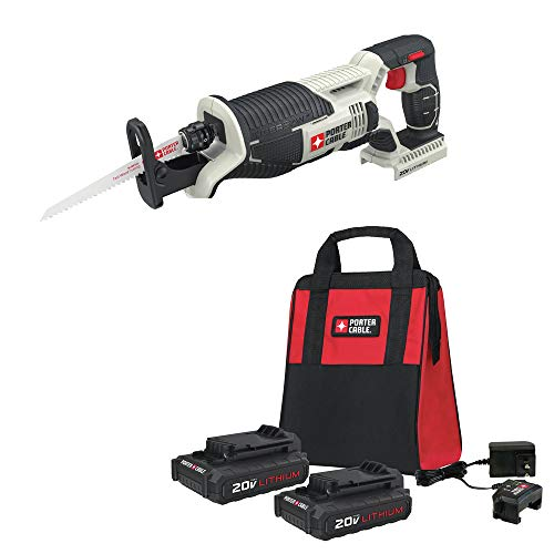 Porter-Cable PCC670B-888LBBNDL 20V MAX Cordless Lithium-Ion Reciprocating Saw Kit
