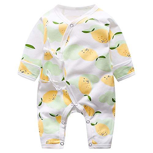 Kleinkind Langarm Overall niedlichen Obst gedruckt Strampler für Kinder Unisex Onesies für Baby Boys Girls(73-Mango)