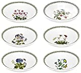 Portmeirion Botanic Garden Collection Soup Plate - 8.5 Inch Set of (6) - Dishwasher, Microwave, Freezer and Oven Safe - Made in England