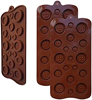 2 Pack OF X Button silicone Chocolate Soap Sugar DIY Fondant Craft Tray Mold Party maker (Ships From USA)