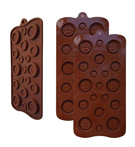 Lowest Prices! 2 Pack OF X Button silicone Chocolate Soap Sugar DIY Fondant Craft Tray Mold Party ma...