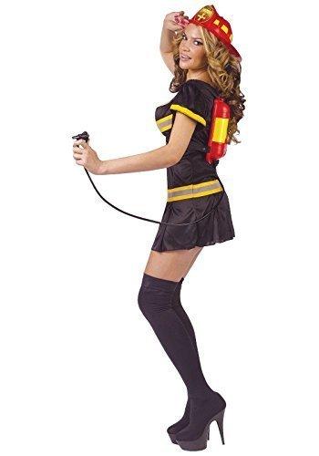 Fancy Me Sexy da Donna Pompiere + estintore distributore di Bevande Servizi di Emergenza Costume Travestimento di Addio al Celibato
