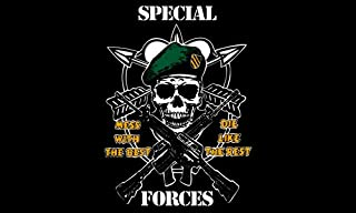 American Vinyl SPECIAL FORCES Mess With The Best Die Like Rest Flag GREEN Beret Sticker (army decal)