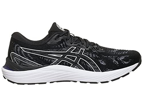 ASICS Men's Gel-Cumulus 23 Running Shoes, 11, Black/White