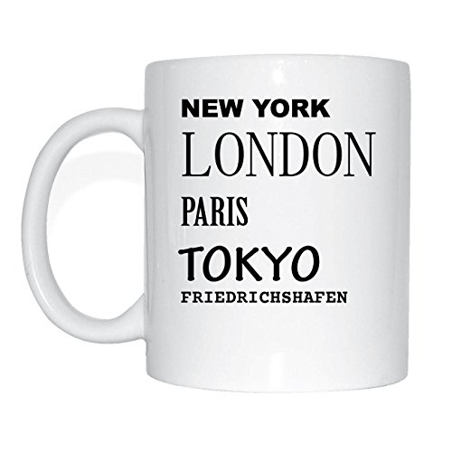 jollify Friedrichs Port Tasse à café Tasse Mug M1073 Design 2: New York, London, Paris, Tokyo