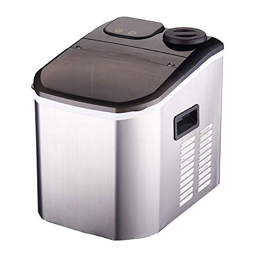 WJSW Automatische Eismaschine, LCD-Anzeige Eiswürfelbereiter Gewerblicher Haushalt, Eiswürfelmaschine 2 Größen (20 kg 24H) Edelstahl
