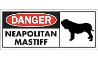 DANGER NEAPOLITAN MASTIFF ワイドマグネットサイン:ナポリタンマスティフ Mサイズ