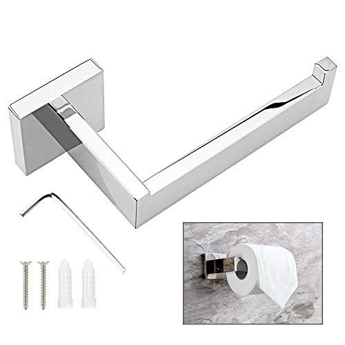 LYTIVAGEN toiletrolhouder roestvrij staal wc-papierhouder wc-papier houder klorollenhouder met haken, schroeven en schroevensleutel voor keuken en badkamer