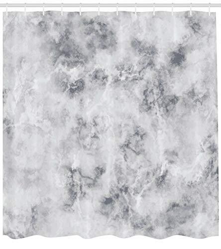 Dor675ser Duschvorhang, 183 x 200 cm, Marmor-Duschvorhang, Granit, Stormy Details Print für Badezimmer