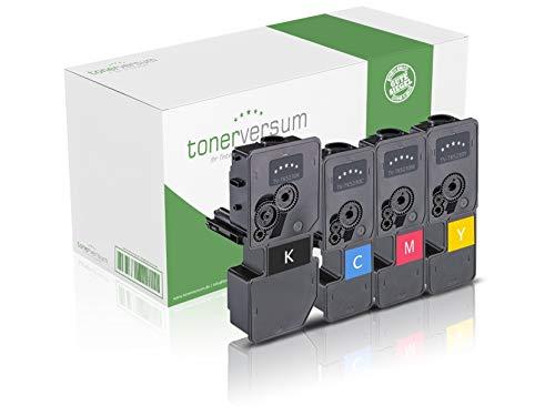 4 XXL Toner kompatibel zu Kyocera TK-5230 Schwarz Cyan Magenta Gelb Druckerpatronen für Ecosys M5521cdn M5521cdw P5021cdn P5021cdw Laserdrucker Multipack