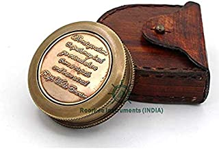 "Famous Quote of Ralph Waldo Emerson"" DO NOT GO Where The Path"" Compass w/case"