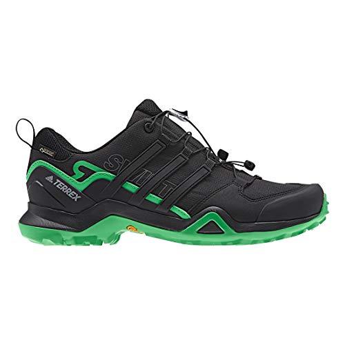 adidas Men's Terrex Swift R2 GTX, Black/Black/Green, 8 D