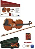 Spectrum AIL 201V Full Size Music Educator Approved Violin Pack with Case and Accessories