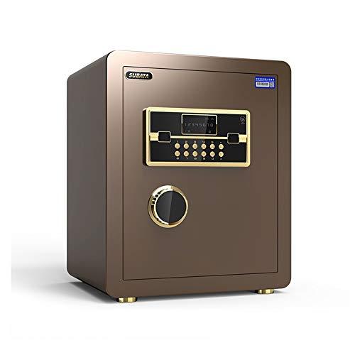 XSJZ Tresore Kennwort Elektronische Tresore Passwort Key Locker Doppelalarmsystem für Office File Computer-Speicher Möbeltresore (Color : A)