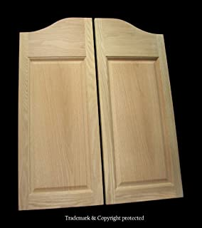 Cafe Doors by Cafe Doors Emporium   Oak Raised 2-Panel Cafe Doors   Prefit for 36