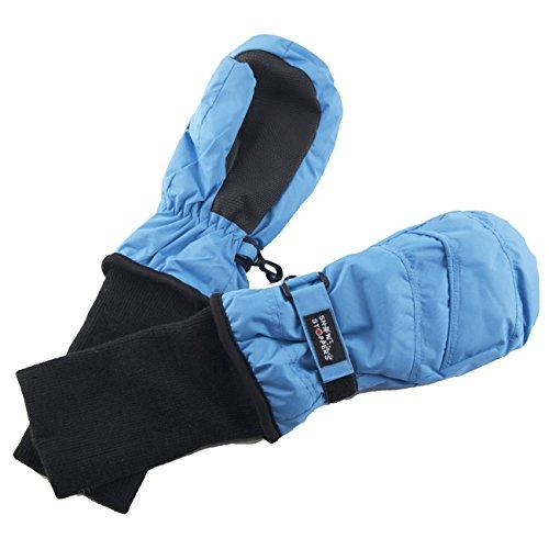 SnowStoppers Kid's Waterproof Stay On Winter Nylon Mittens Medium / 2-5 Years Sky Blue
