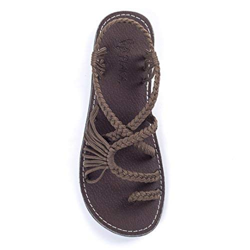 308e7b450b03 Plaka Flat Sandals for Women Palm Leaf