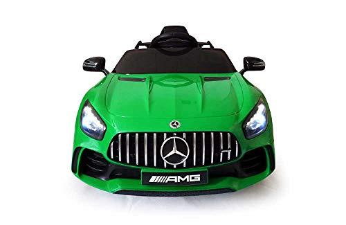 Babycar Mercedes GT-R AMG ( Verde ) Nuova Versione Macchina Elettrica per Bambini 12 Volt Batteria con Telecomando 2.4 GHz Porte Apribili con MP3