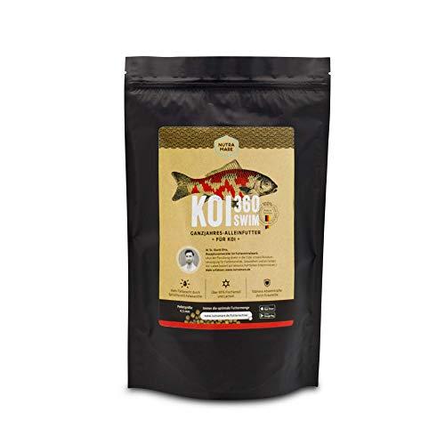 Nutramare Koi360 Swim 1,5 kg Wachstumsfutter | Ideales Wachstum durch 40% Protein, Spirulina für Intensive Farben, Koifutter