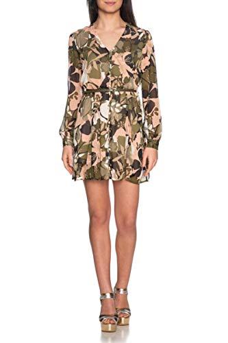Dames jurk Liu Jo Fantasia Floral Green Military Blush