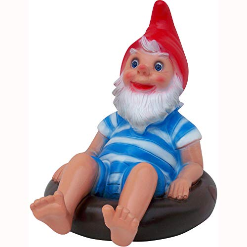 RAKSO Swimming Pool Gnome, 12', Large UV Resistant Ornament for Pool, Pond or Garden