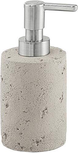 Gedy Ginevra zeepdispenser voor beton, grijs, 7 x 7 x 15,8