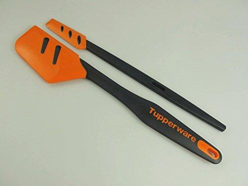 TUPPERWARE Griffbereit Top-Schaber D167 schwarz-orange + Kleiner Schaber 30904
