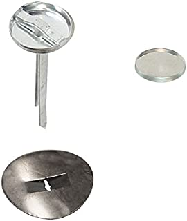 50 Qty: Osborne Button Kit: Prongs (Clinch Buttons), Soft Shells (Size 24: 5/8