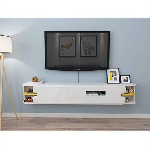 TLMYDD Soporte de TV con 7 Racks de Almacenamiento, Consola de Centro de Entretenimiento, Soporte de TV Flotante, Consola de Medios, Consola de Juegos, Dispositivo de transmisión de Medios Estante