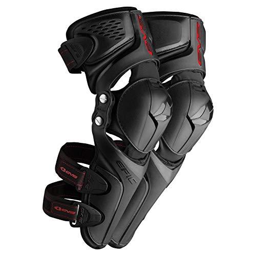 EVS Sports Unisex-Adult Epic Knee Pad (Black, Large/X-Large)