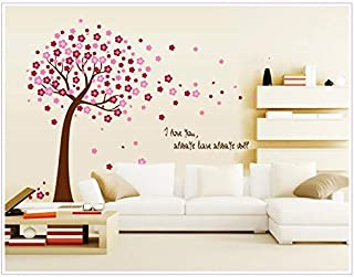 DIY Removable Wall Stickers For Living Room Home Decor - Pink flower