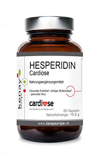 HESPERIDIN | Cardiose| Rutosid | 250mg- 60 Kapseln | KENAY EUROPE