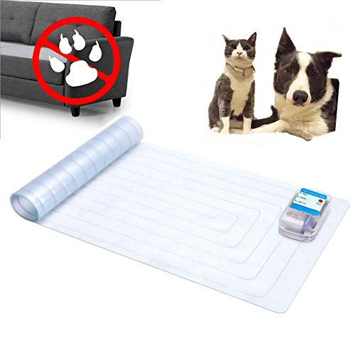 JSBH Upgraded Scat Mat - 12 x 60-inch Indoor Electronic Pet Shock Pad, Keep Pets Off Couch and Furniture Repellent/Deterrent ScatMat Training Mats for...
