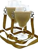 WineHolder Eff Em Concept Weinglas-Halter für den Hals, Weinglashalterung inkl. Halstrageband (Lanyard) (Gold 2er Set)