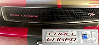 Reflective Concepts Challenger Grille Emblem Overlay Decal - 08-14 Challenger - (Color: Gloss Red)
