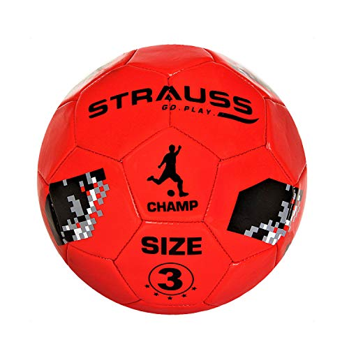 Strauss Champ Football, Size 3, Red (for Kids)