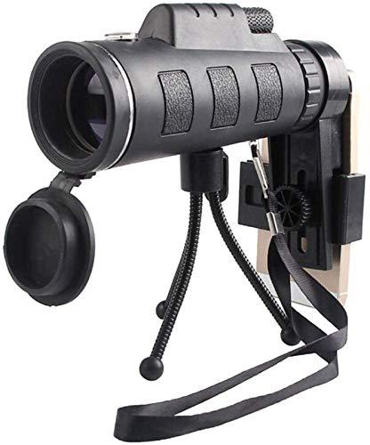 LXHJZ Telescopio binoculares Alta definición para niños Adultos, monocular a Prueba Agua HD portátil Ultra Alta Potencia 40X60, para conciertos, Actividades al Aire Libre