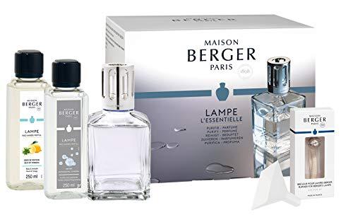 Lampe Berger Starter-Set NEW EDITION CUBE | inkl. Broschüre und Anleitung | inkl. 2 x 250 ml Duft | Deine Lampe - Dein Duft von Maison Berger